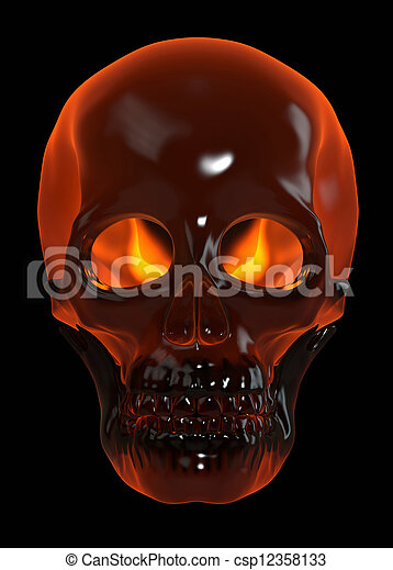 Fire skull human skull on black stock photos search photographs fire skull csp12358133 voltagebd Choice Image