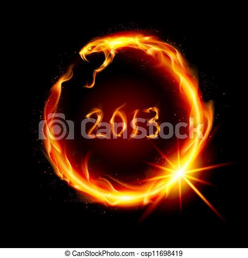 Fire snake - csp11698419