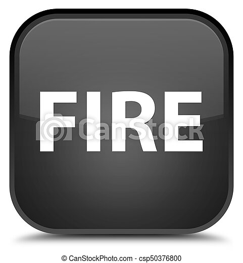 Fire special black square button - csp50376800
