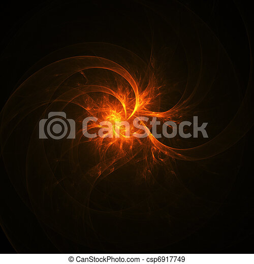 fire spiral flame rays - csp6917749