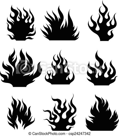Fire Black And White Drawing