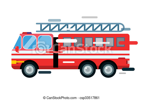 fire truck car isolated cartoon silhouette fire truck car stock rh canstockphoto com fire truck clip art free download firetruck clipart free