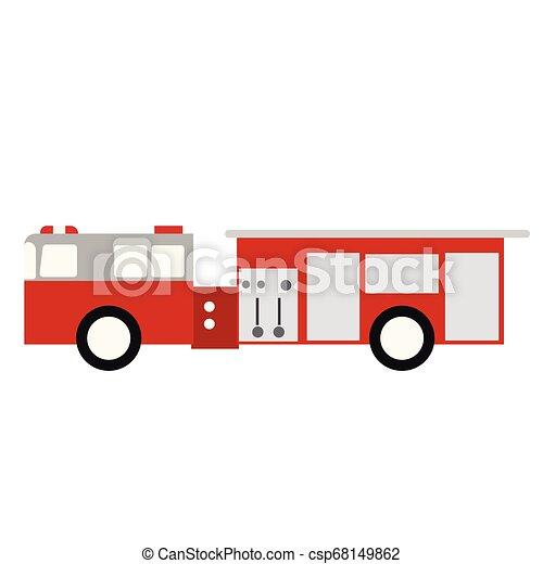 Fire truck flat illustration - csp68149862