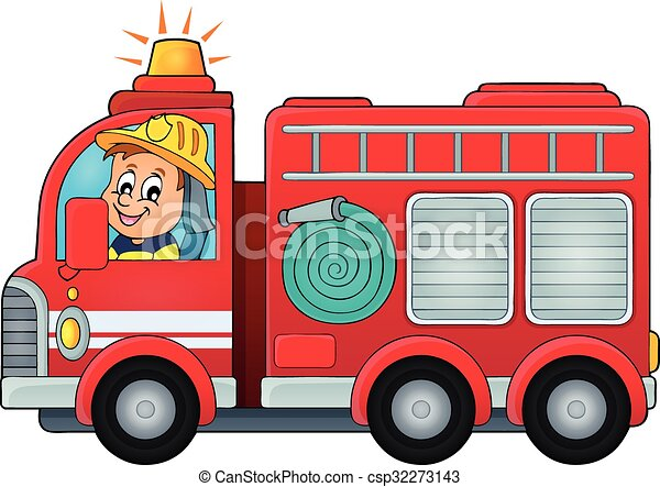 Fire truck theme image 4 - csp32273143