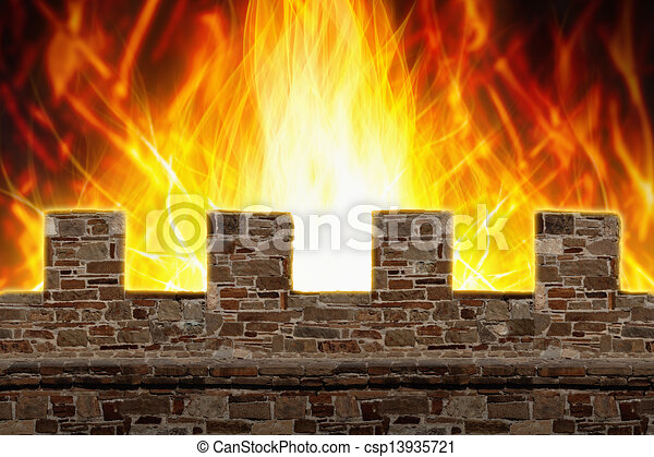 Fire, wall - csp13935721