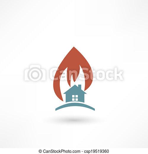 fire warning - csp19519360