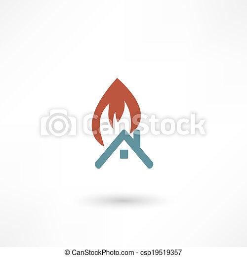fire warning - csp19519357