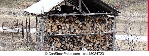 fire wood, log, billet - csp45024723