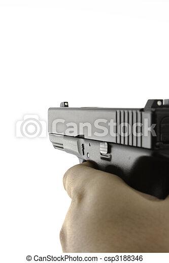 Firearm being aimed - csp3188346