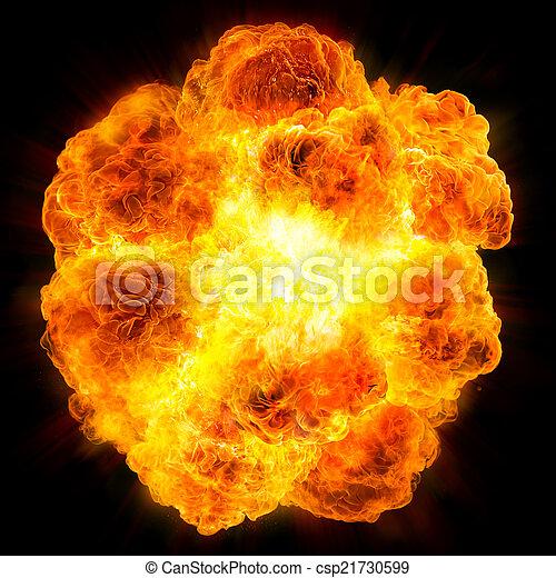 fireball: explosion  - csp21730599
