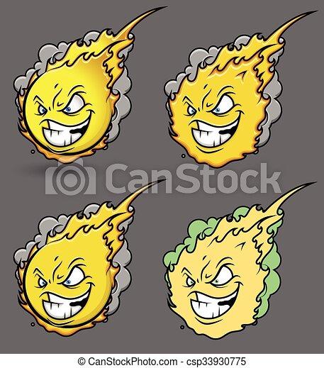 Fireball Smiley Set - csp33930775
