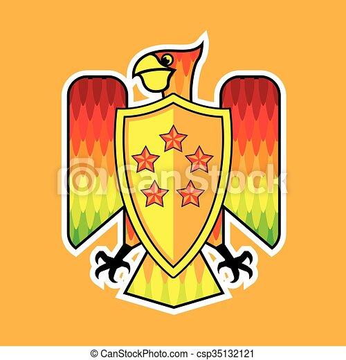 Firebird Shield logo  - csp35132121