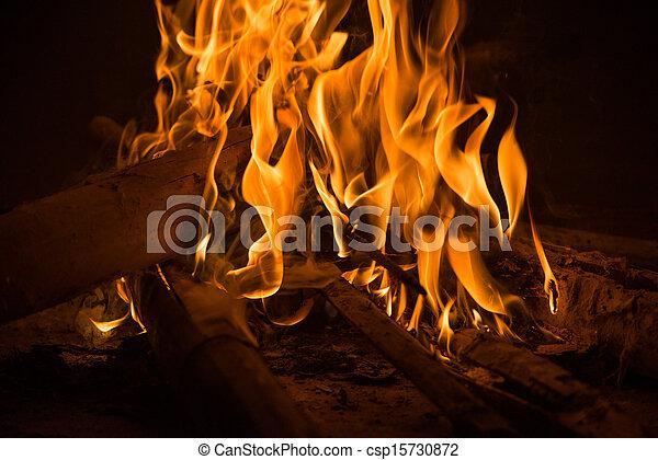 firecamp in night time 5 - csp15730872
