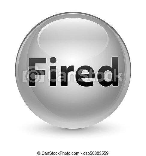 Fired glassy white round button - csp50383559