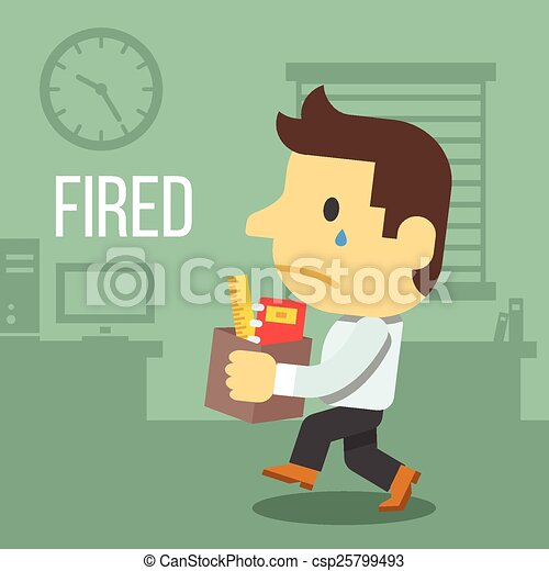 Fired office worker  - csp25799493