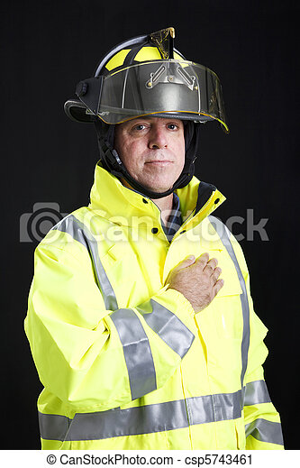 Firefighter - Hand on Heart - csp5743461