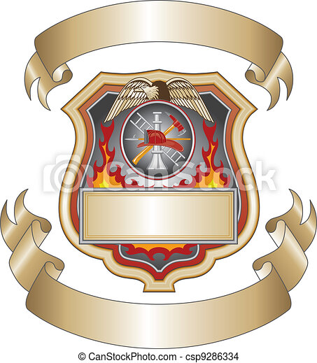 Firefighter Shield III - csp9286334