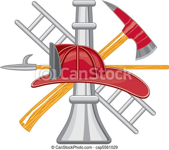 Firefighter Tools logo - csp5561029