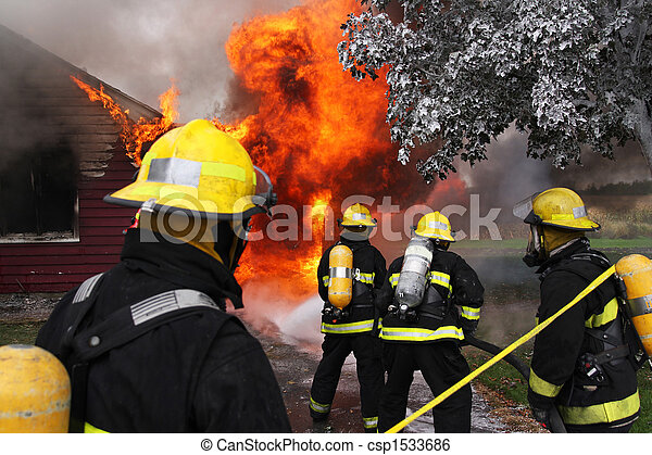 Firefighters in action - csp1533686