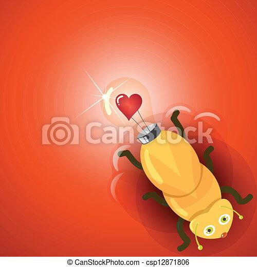 firefly, licht, liefde, bol - csp12871806