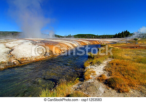 Firehole River in Yellowstone Park - csp11253583