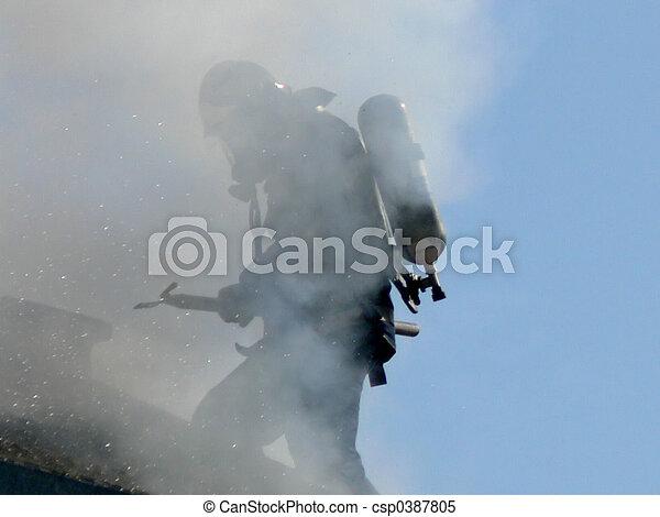 Fireman at Work - csp0387805