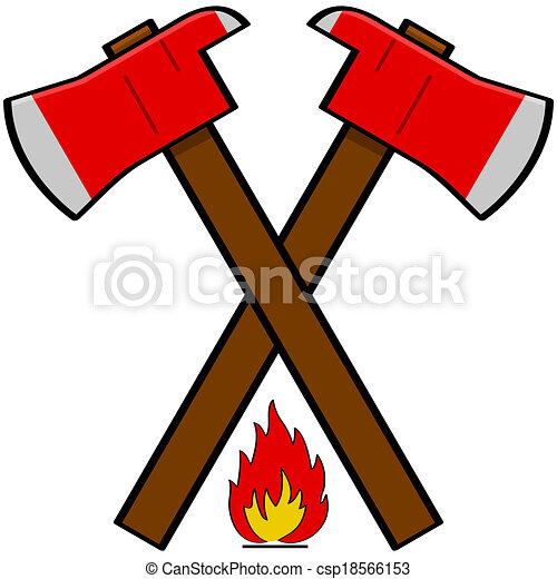 Fireman axe - csp18566153