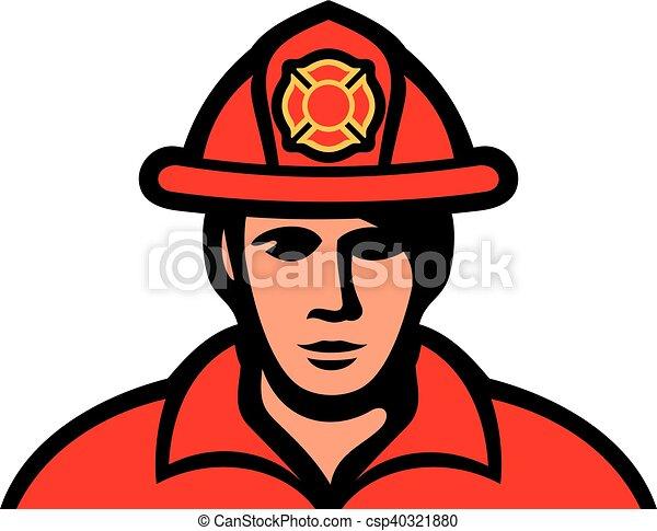 fireman in uniform vector - csp40321880