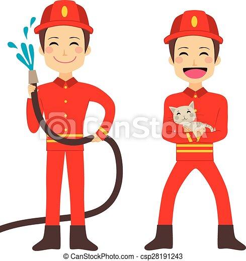 Fireman Working - csp28191243