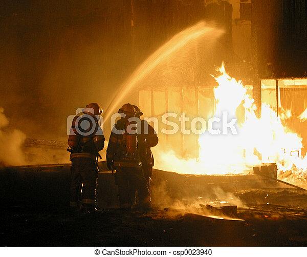 firemen at work - csp0023940