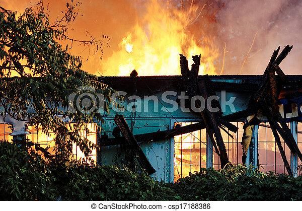 Firemen in action - csp17188386