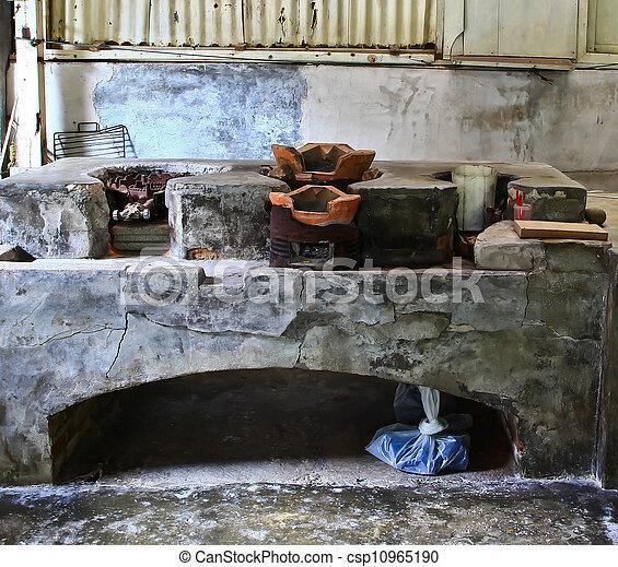 fireplace., öreg - csp10965190