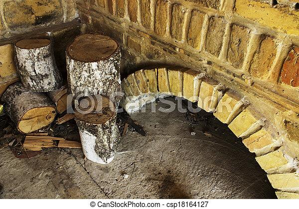 fireplaces - csp18164127