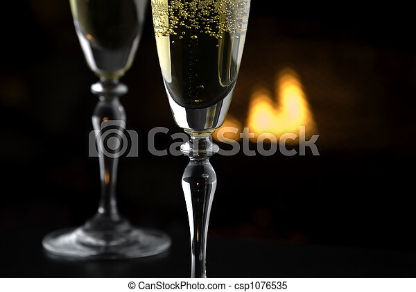 Fireside Champagne 1 - csp1076535