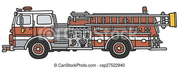 firetruck hand drawing of a classic fire truck not a real model