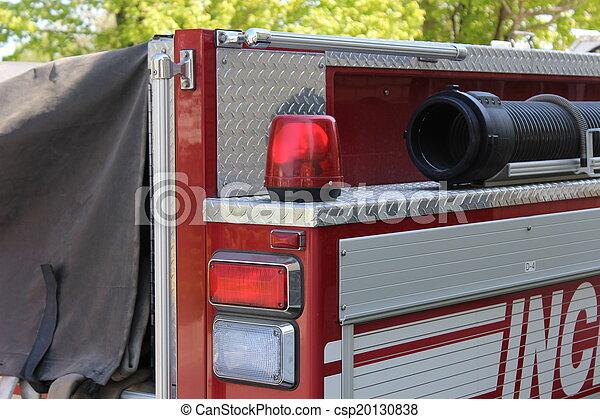 Firetruck hose and Emergency lights - csp20130838