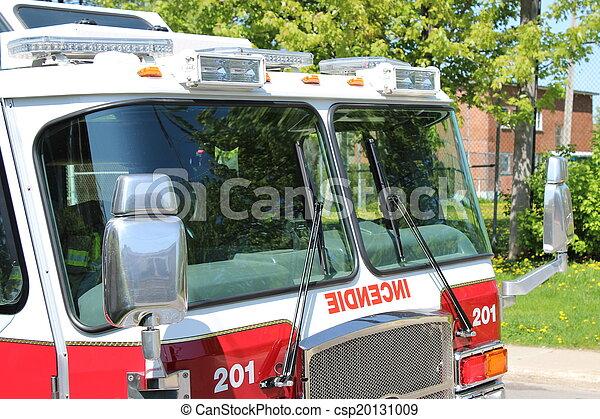 Firetruck with emergency lights - csp20131009