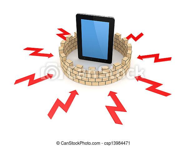 Firewall concept. - csp13984471
