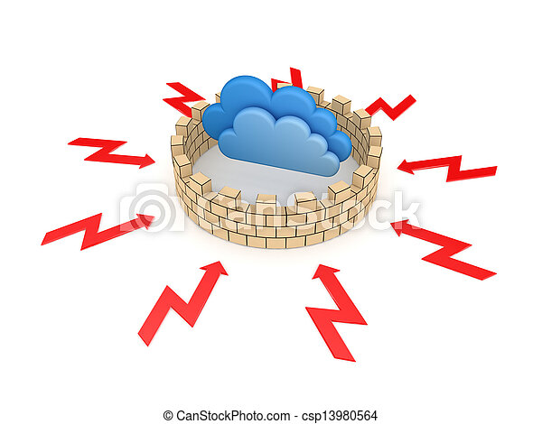 Firewall concept. - csp13980564