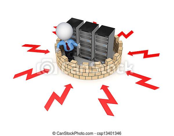 Firewall concept. - csp13401346