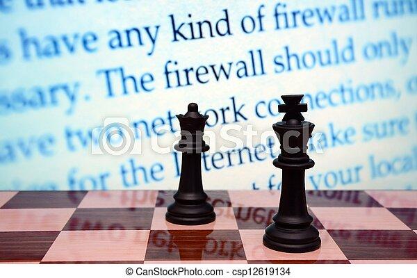 Firewall concept - csp12619134