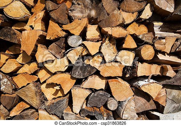 Firewood background - csp31863826