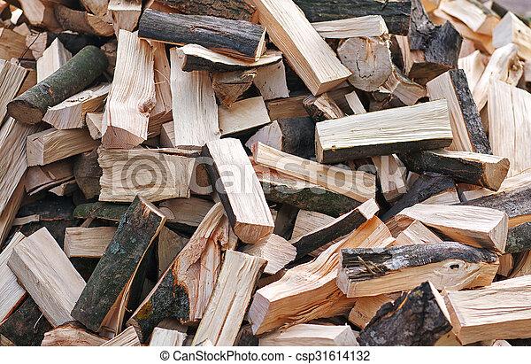 Firewood background  - csp31614132