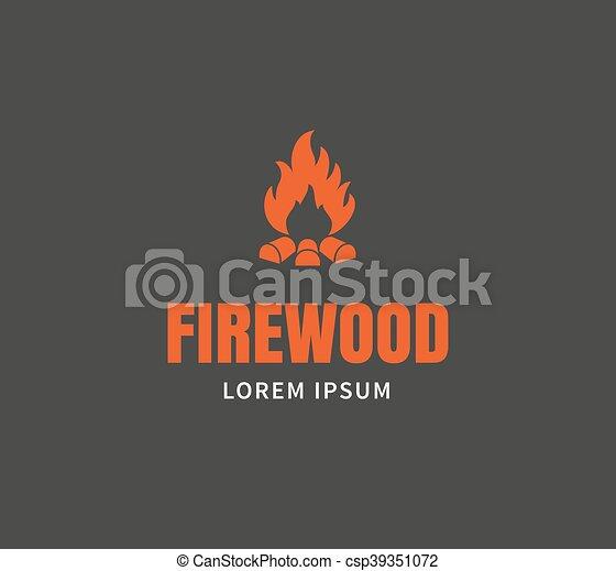 Firewood emblem template - csp39351072