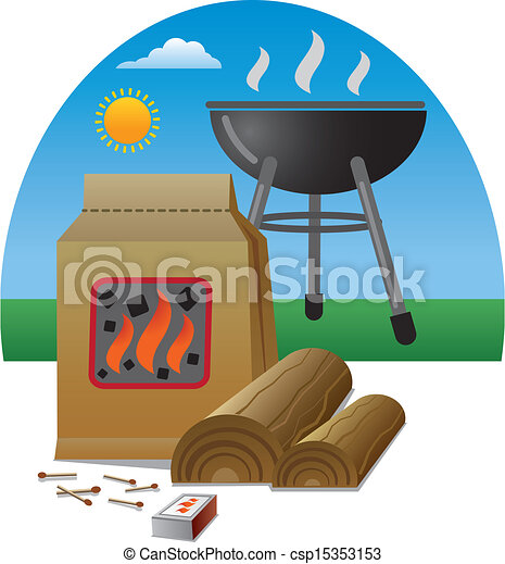 firewood for barbecue - csp15353153