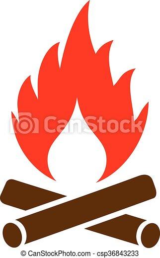 Firewood vector icon - csp36843233