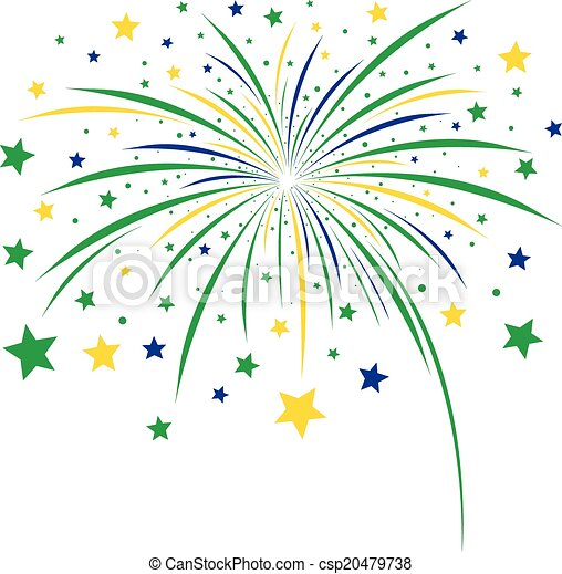 Firework design on white background - csp20479738