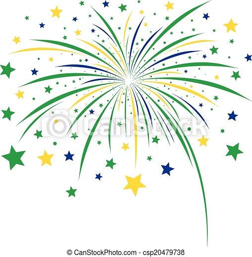 Firework design on white background - csp20479738