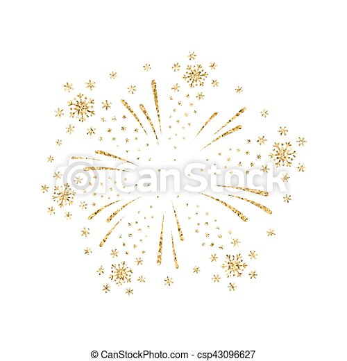 Firework gold isolated - csp43096627