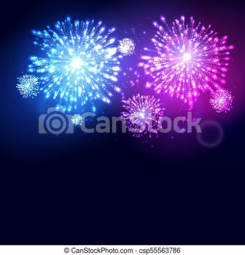 firework new year holiday celebration template vector colorful firework flame carnival event background